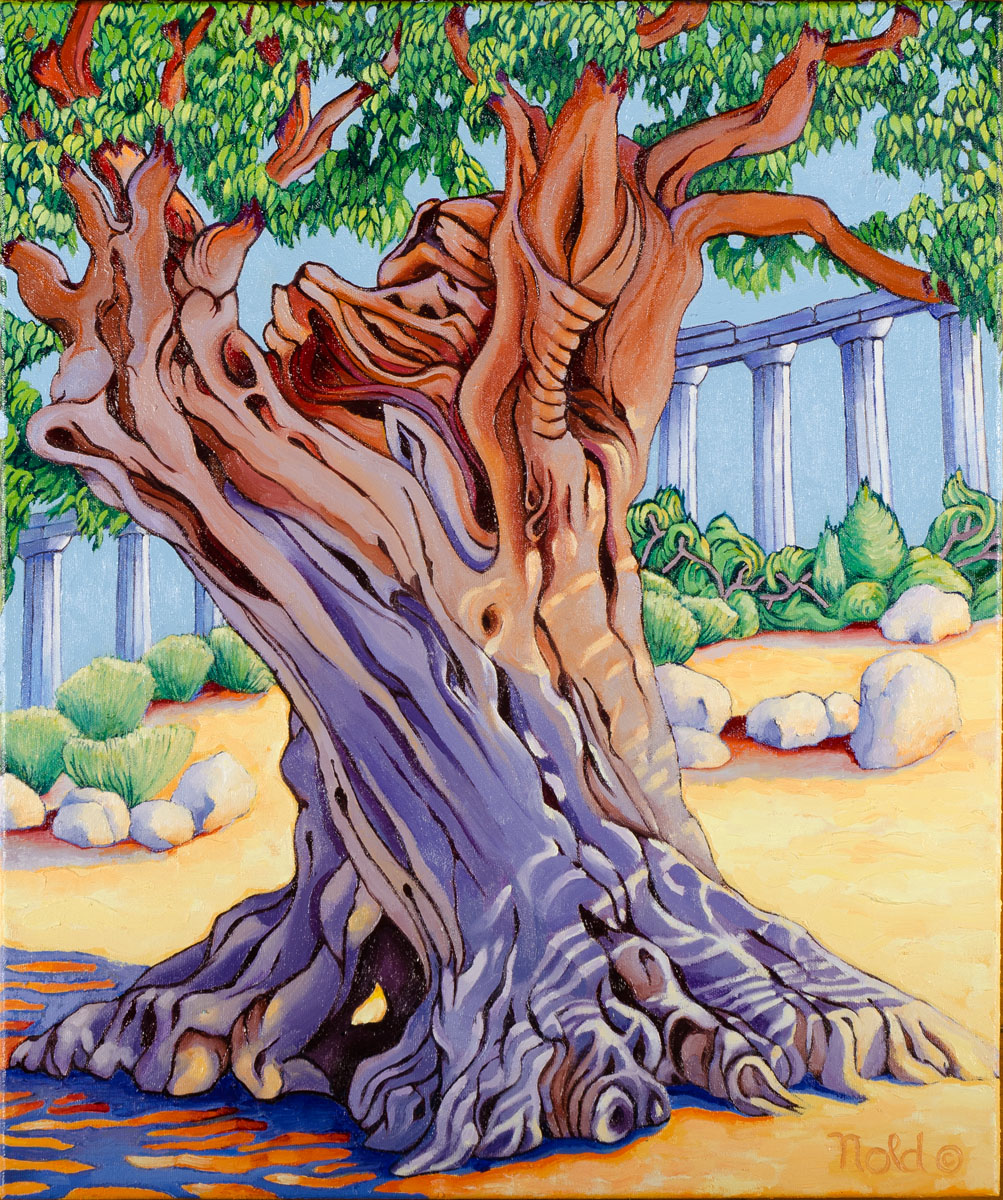 Valle Del Templi-Agrigento, Sicily<br>Ancient Oil Tree #1